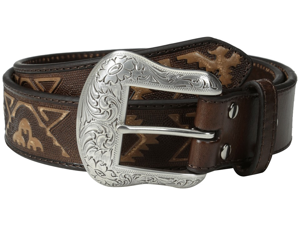M&F Western - Embossed Thunderbird Belt (Brown) Men's Belts