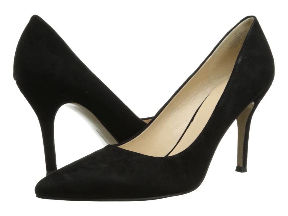 Nine West Flax Black Suede 2 High Heels