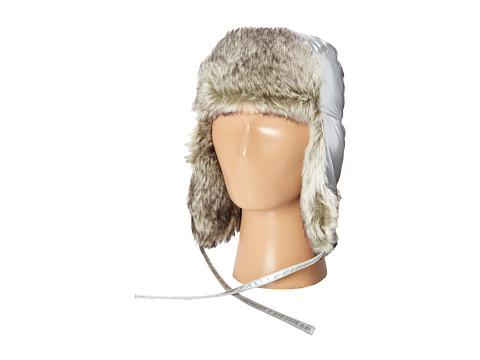 Appaman Kids - Faux Fur Trapper Hat (Infant/Toddler/Little Kids/Big Kids) (Silver) Caps