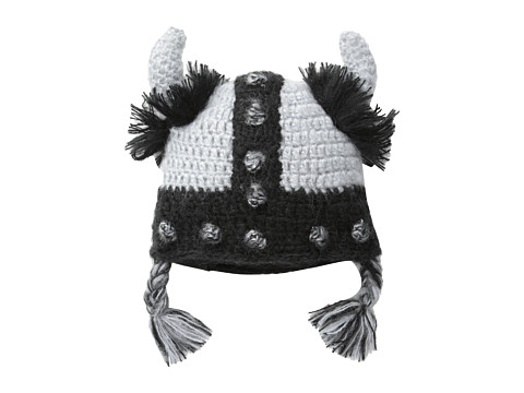 Appaman Kids - Super Soft Knit Viking Cap (Infant) (Grey) Caps