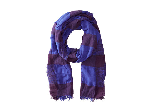 Echo Design - Wooly Windowpane Wrap (Iris) Scarves