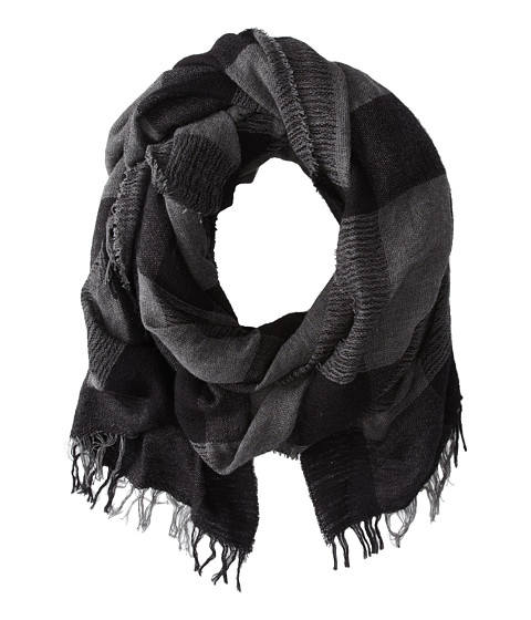 Echo Design - Wooly Windowpane Wrap (Charcoal) Scarves
