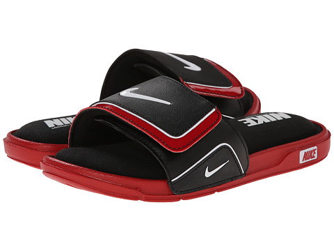 Nike Kids - Comfort Slide 2 (Little Kid/Big Kid) (Black/Gym Red/Bright Crimson) Kids Shoes