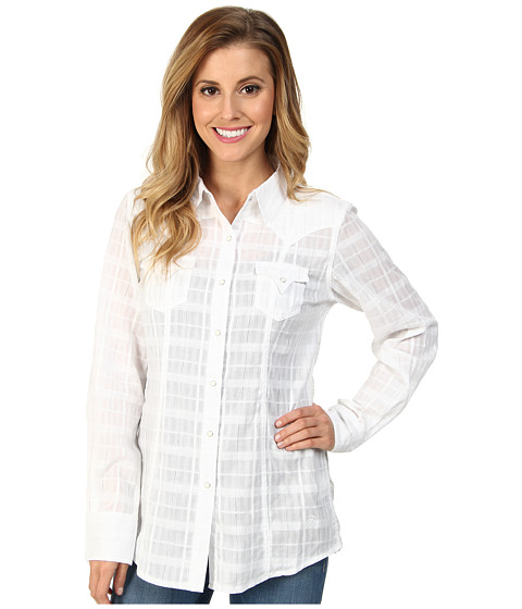 Ariat - Tetonia Snap Shirt (White) Women's Long Sleeve Button Up