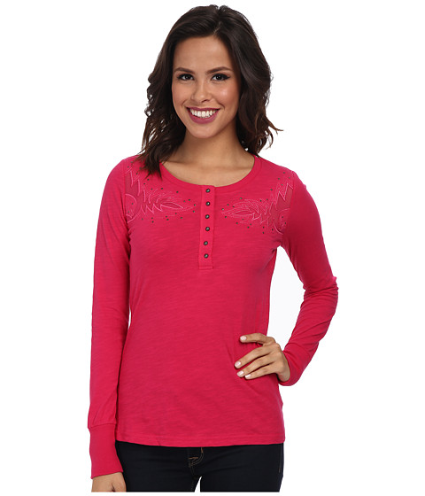 Ariat - Carey Henley (Pink Clash) Women's Long Sleeve Pullover