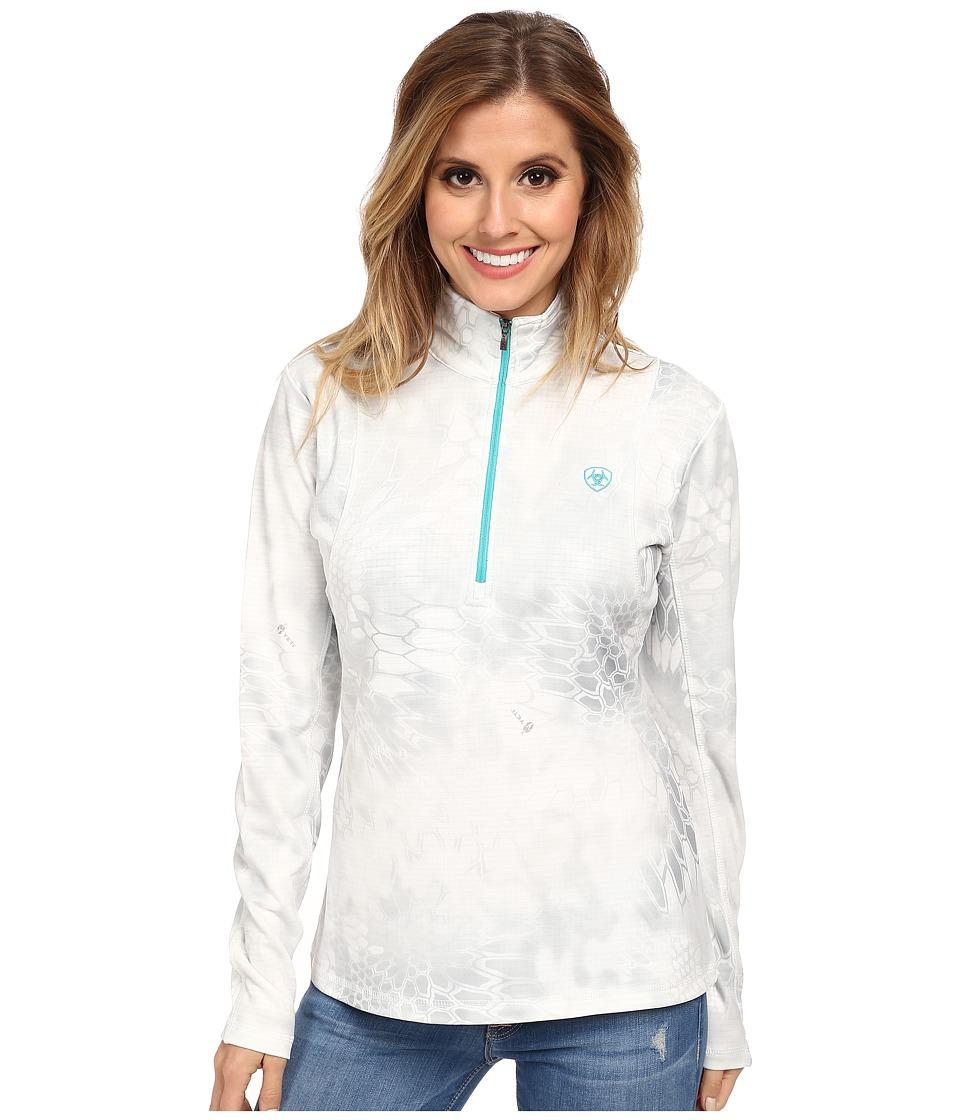 Ariat - Kryptek 1/4 Zip Top (White Yeti) Women's Long Sleeve Pullover