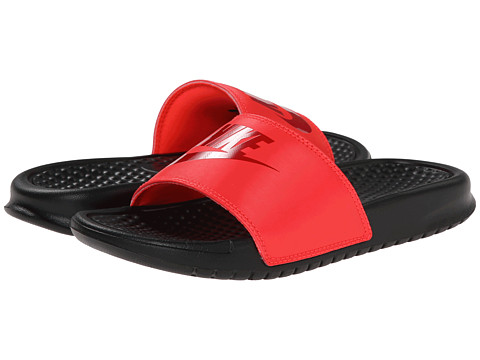 Nike Kids - Benassi JDI (Little Kid/Big Kid) (Bright Crimson/Black/Gym Red) Kids Shoes