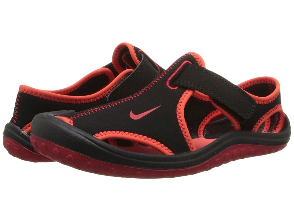 Nike Kids - Sunray Protect (Little Kid) (Black/Bright Crimson/Gym Red) Boys Shoes