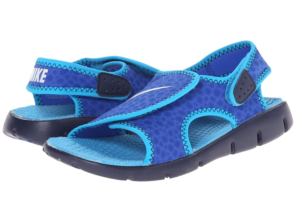 Nike Kids - Sunray Adjust 4 (Little Kid/Big Kid) (Lyon Blue/Blue Lagoon/Midnight Navy/White) Boys Shoes