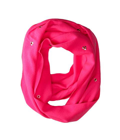 Betsey Johnson - Heart Grommet Infinity (Pink) Scarves