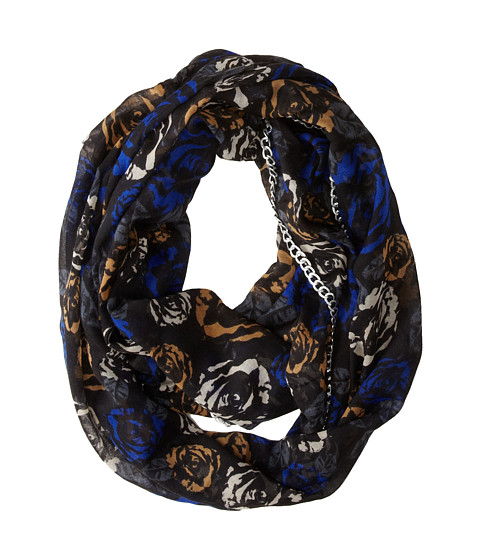 Betsey Johnson - Digital Rose Infinity (Blue) Scarves