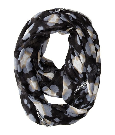 Betsey Johnson - Pretty Kitty Infinity (Black) Scarves