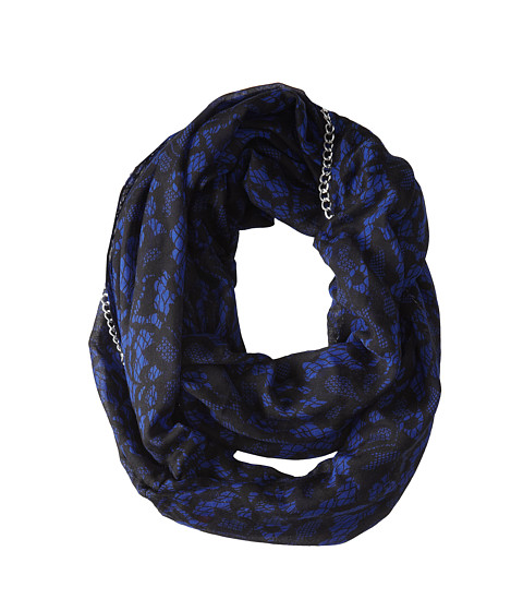 Betsey Johnson - Lace Attraction Infinity (Blue) Scarves