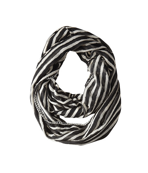 Betsey Johnson - Sketchy Stripe Infinity (Ivory) Scarves