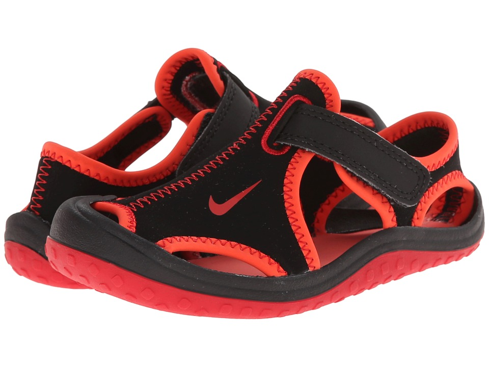 Nike Kids - Sunray Protect (Infant/Toddler) (Black/Bright Crimson/Gym Red) Boys Shoes