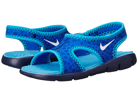 Nike Kids - Sunray 9 (Infant/Toddler) (Lyon Blue/Midnight Navy/Blue Lagoon/White) Boys Shoes