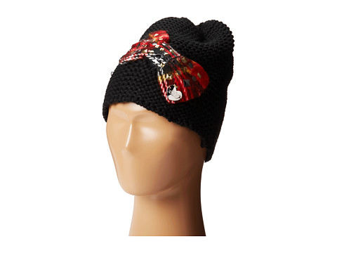 Betsey Johnson - Pretty n Punk Beanie Hat (Red) Beanies