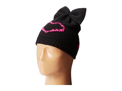 Betsey Johnson - Heart Breaker Bew Beanie Hat (Neon Pink) Beanies