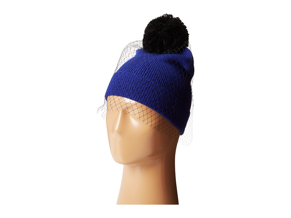 Betsey Johnson - Veil Beanie Hat (Royal) Beanies