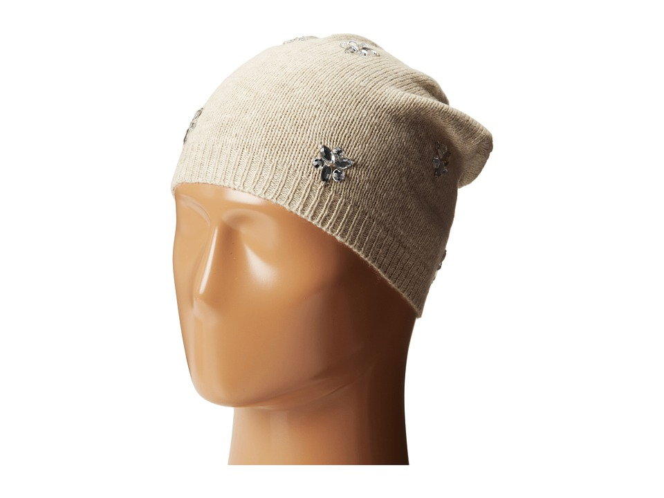 Betsey Johnson - Bling Beanie Hat (Cream) Beanies