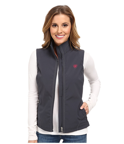 Ariat - Solan Softshell Vest (Charcoal) Women's Vest