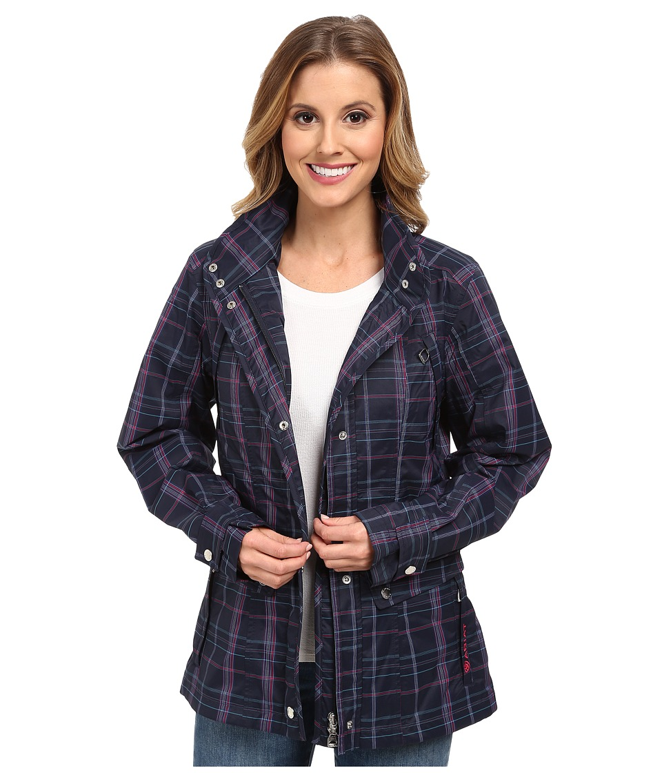 Ariat - Burney Parka (Navy Plaid) Women's Coat