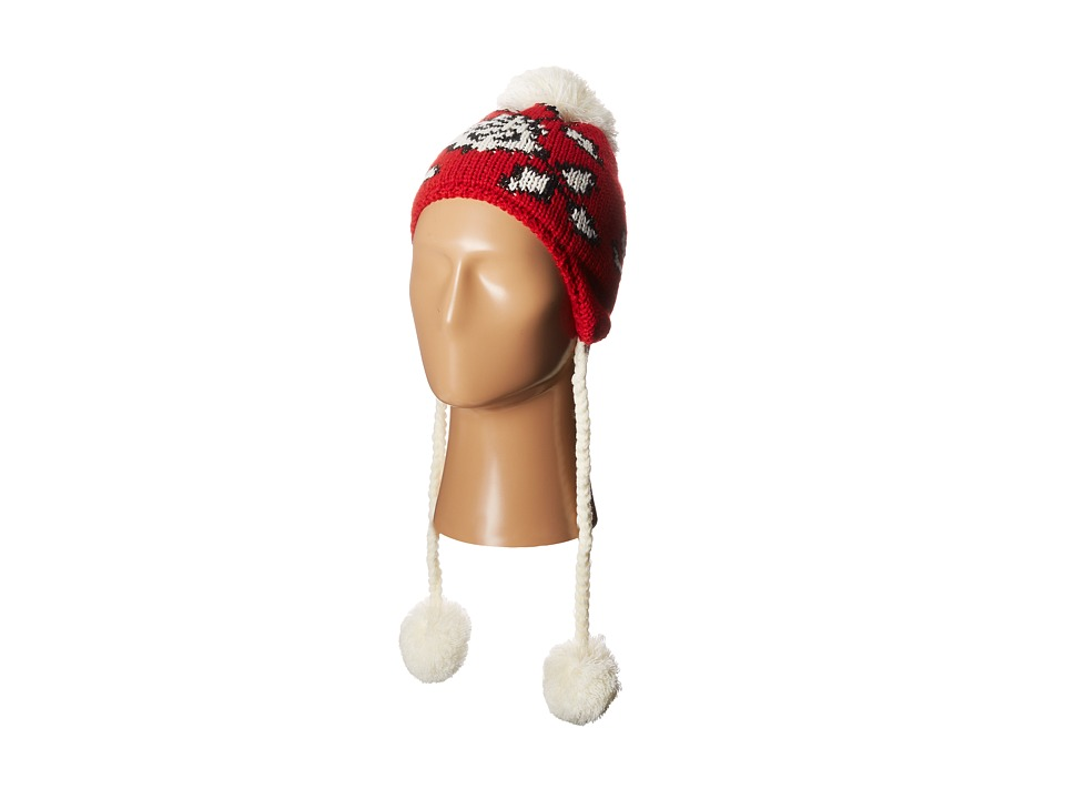 Betsey Johnson - Vintage Rose Earflap Hat (Bright Red) Traditional Hats plus size,  plus size fashion plus size appare