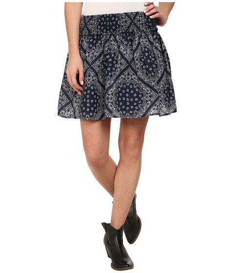Ariat - Bandana Print Skirt (Peacoat Navy) Women's Skirt