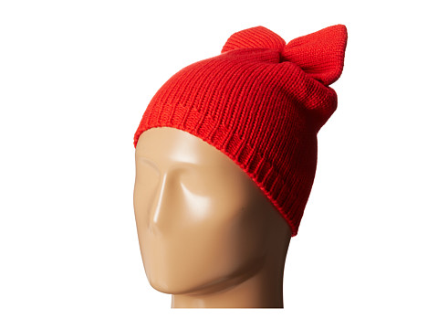 Betsey Johnson - Solid Bow Beanie Hat (Red) Beanies