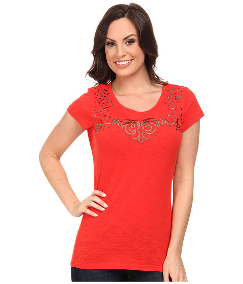 Ariat - Dawson Top (Cayenne Pepper) Women's Short Sleeve Pullover