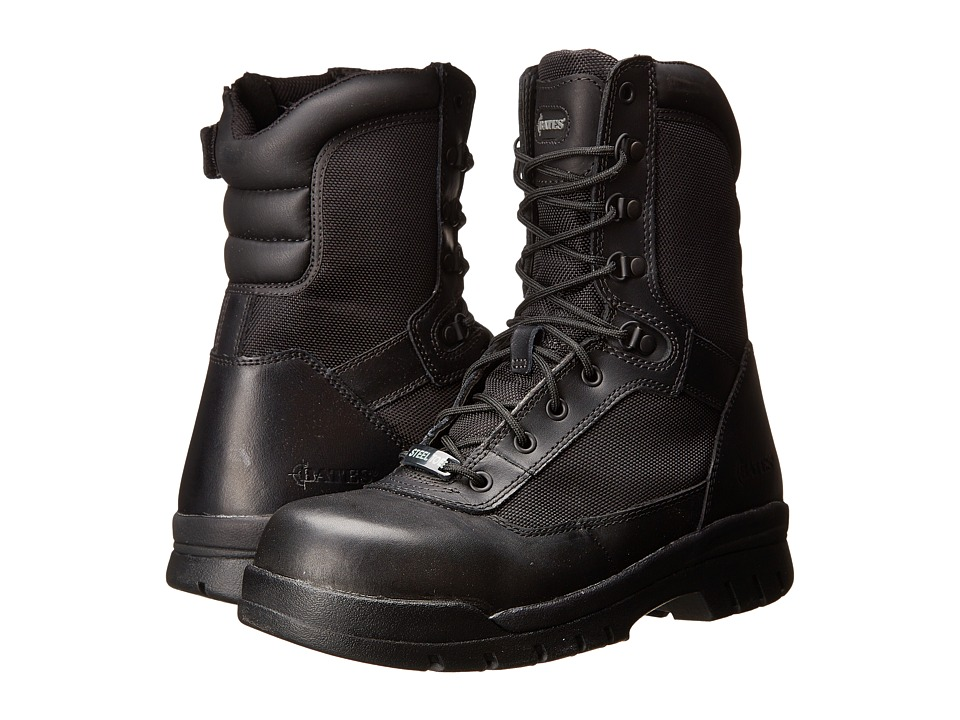 Bates Footwear 8 Steel Toe EH Insulated Zip (Black) Men