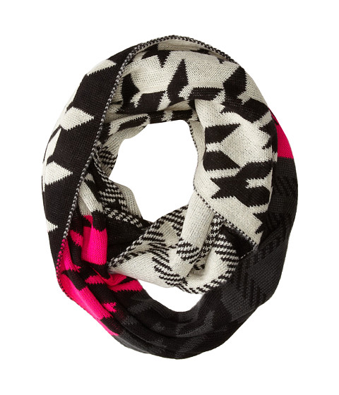 Steve Madden - Checked Mates Infinity Scarf (Neon Pink) Scarves