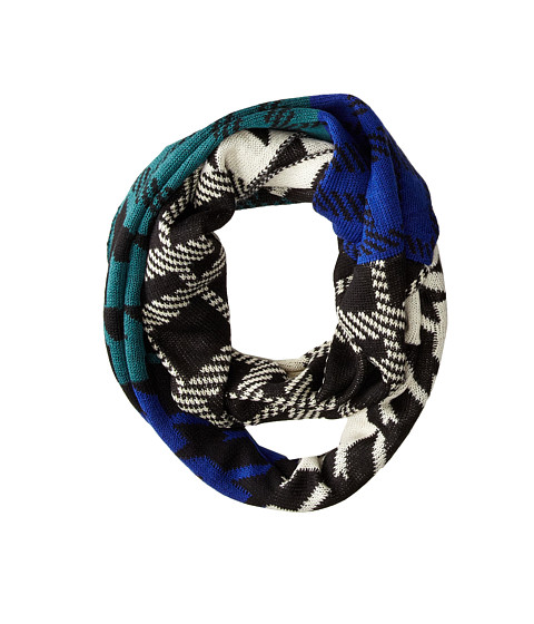 Steve Madden - Checked Mates Infinity Scarf (Royal) Scarves