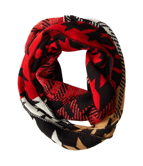 Steve Madden - Checked Mates Infinity Scarf (Red) Scarves