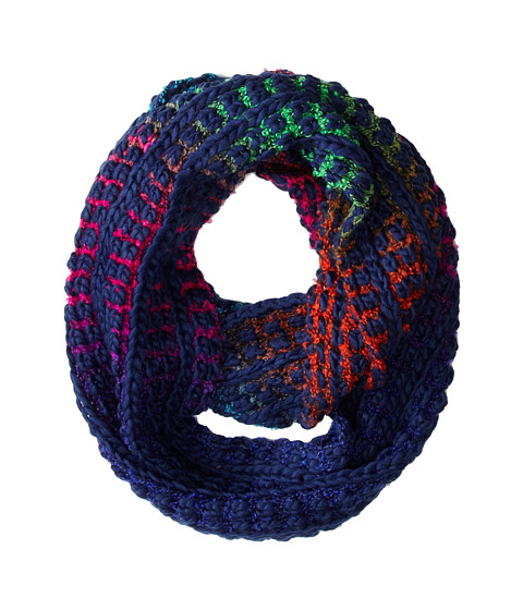 Steve Madden - On The Bright Side Infinity Scarf (Navy) Scarves