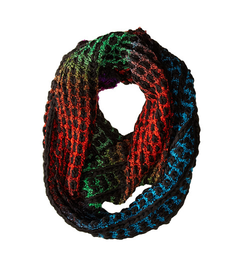 Steve Madden - On The Bright Side Infinity Scarf (Black) Scarves