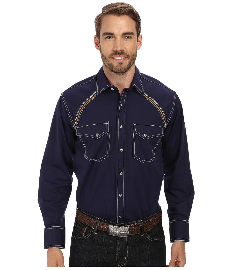 Ariat - Lars Snap Shirt (Evening Navy) Men's Long Sleeve Button Up