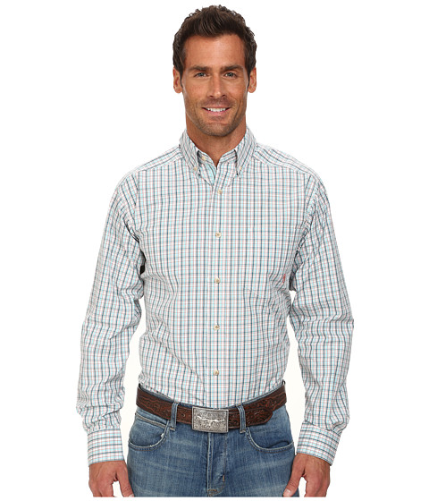 Ariat - Lewis Perf Shirt (Multi) Men's Long Sleeve Button Up