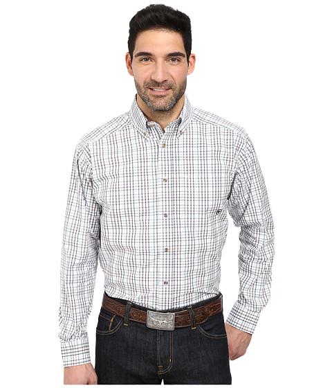 Ariat - Nix Perf Shirt (White) Men's Long Sleeve Button Up
