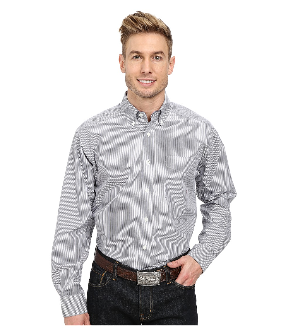 Ariat - Wrinkle Free Ogden Shirt (White Multi) Men's Long Sleeve Button Up