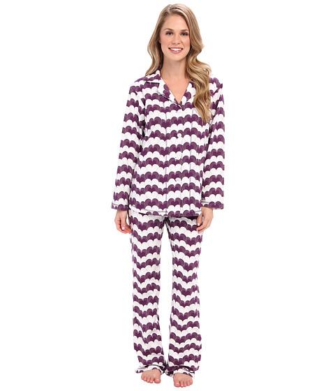 40 Winks Classic PJ Set (Wine/Gatsby Heart) Women's Pajama Sets