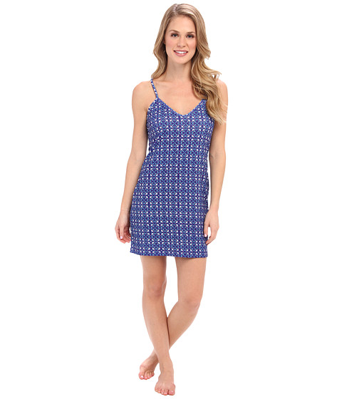 40 Winks - Chemise PJ Set (Riviera Blue) Women's Pajama
