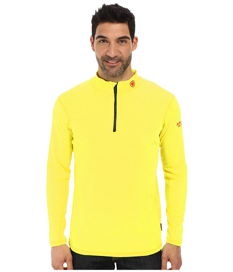 Ariat - FR Polartec 1/4 Zip Baselayer (Safety Yellow) Men's Sweatshirt