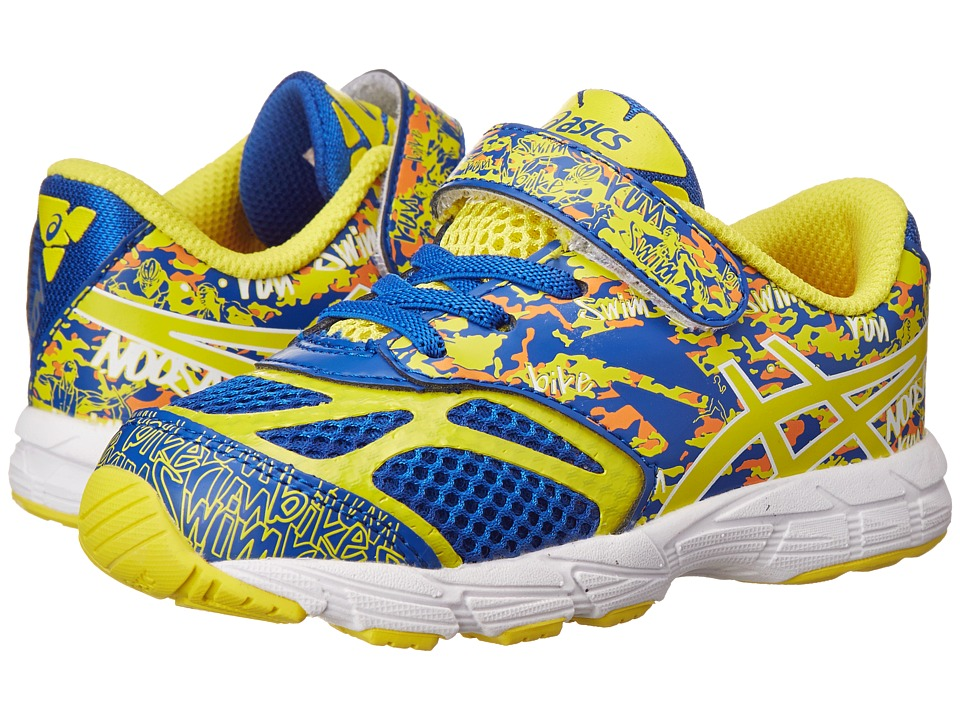 ASICS Kids - Noosa Tri 10 TS (Toddler) (Blue/Flash Yellow/Orange) Boys Shoes