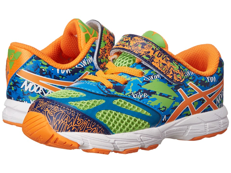 ASICS Kids - Noosa Tri 10 TS (Toddler) (Flash Green/Flash Orange/Blue) Boys Shoes