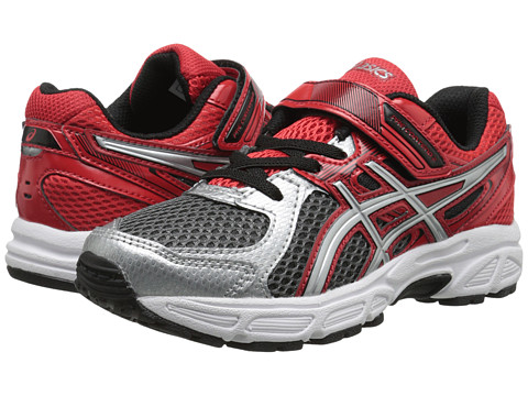 ASICS Kids - Pre-Contend 2 PS (Toddler/Little Kid) (Carbon/Lightning/Red) Boys Shoes