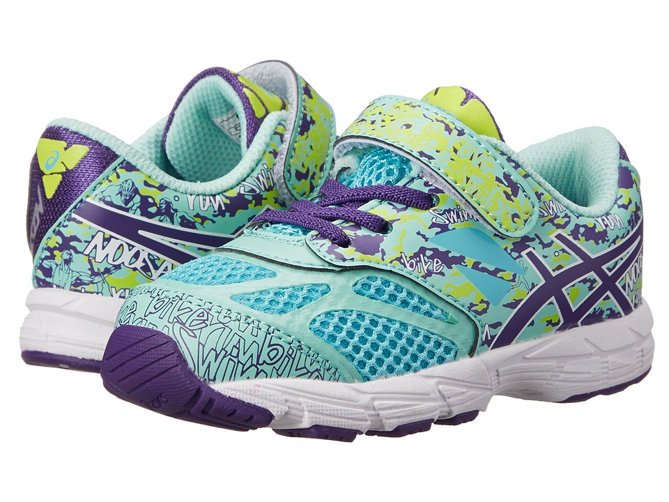 ASICS Kids - Noosa Tri 10 TS (Toddler) (Turquoise/Grape/Lime) Girls Shoes
