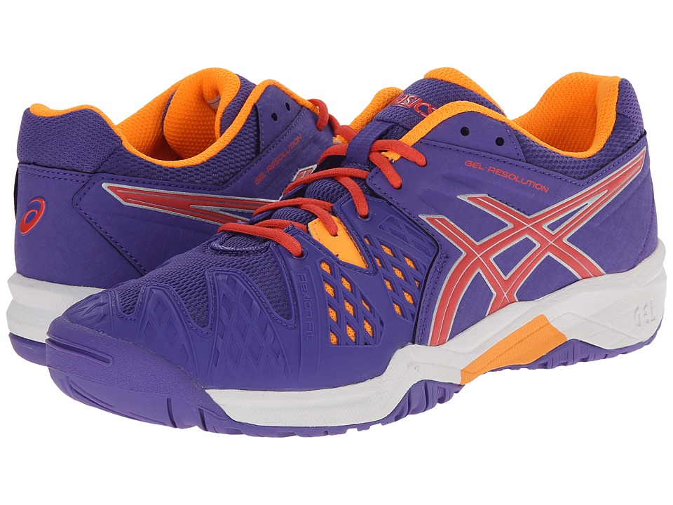 ASICS Kids - Gel-Resolution 6 GS (Little Kid/Big Kid) (Lavender/Hot Coral/Nectarine) Girls Shoes
