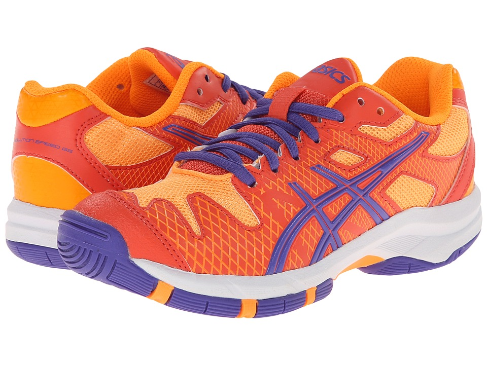 ASICS Kids - Gel-Solution Speed GS (Little Kid/Big Kid) (Hot Coral/Lavender/Nectarine) Girls Shoes