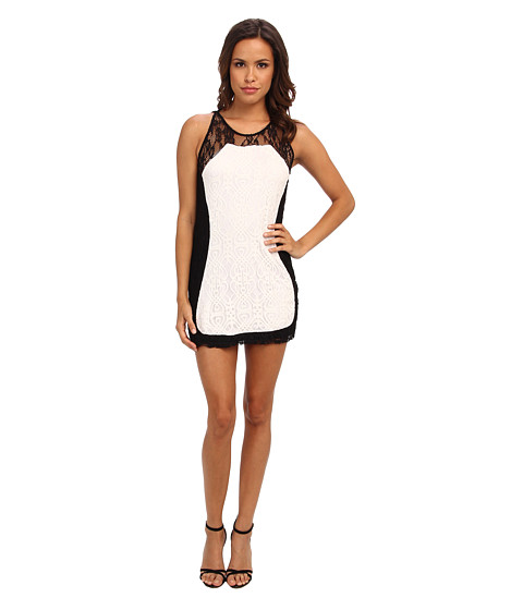 KAS New York - Delihya Lace Dress (Black/White) Women's Dress